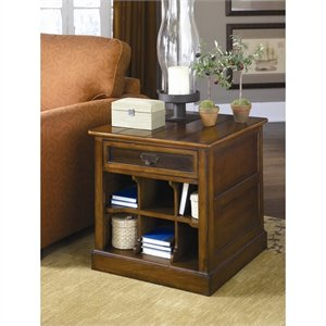 Hammary Mercantile Rectangular Storage End Table in Whiskey Finish