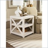 Hammary Transitions X Rectangular End Table in Weathered White