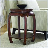 Hammary Hidden Treasures Handpainted Round Table with Red Accents