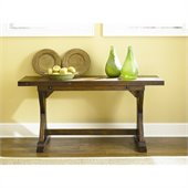 Hammary Hidden Treasures Drop Down Console Table in Rustic Finish