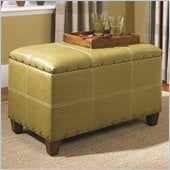 Hammary Hidden Treasures Storage Ottoman Trunk in Green
