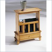 Hammary Chairsides Linden End Table in Gold Oak