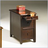 Hammary Chairsides Edwards End Table in Merlot
