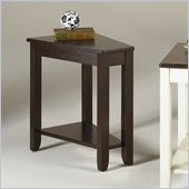 Hammary Chairsides Fran End Table in Espresso