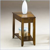 Hammary Chairsides Howard End Table in Medium Oak