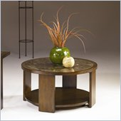 Hammary Marika Round Cocktail Table in Glazed Chestnut Finish