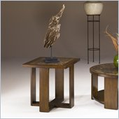 Hammary Marika Square End Table in Glazed Chestnut Finish
