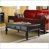 Hammary Mercer Rectangular Cocktail Table in Black Painted Finish