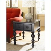 Hammary Mercer Rectangular Drawer End Table in Black Painted Finish