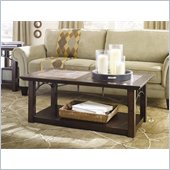 Hammary Vecchio Rectangular Cocktail Table in Mid-Tone Brown Finish