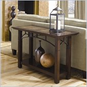 Hammary Vecchio Sofa Table in Mid-Tone Brown Finish