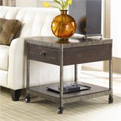 Hammary Structure Rectangular Drawer End Table in Distressed Brown
