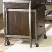 Hammary Structure Mobile File Cabinet in Distressed Brown