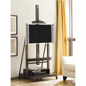 Hammary Structure TV Easel/Stand in Distressed Brown