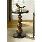 Hammary Hidden Treasures Round Accent Table in Black