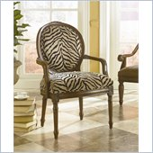 Hammary Hidden Treasures Zebra Chenille Fabric Accent Chair