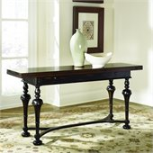 Hammary Hidden Treasures Console Table in Distressed Black/Brown