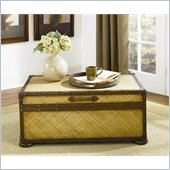 Hammary Hidden Treasures Woven Rattan Trunk Cocktail Table