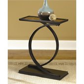 Hammary Hidden Treasures Accent Table in Black Painted Finish