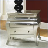 Hammary Hidden Treasures 3 Drawer Accent Chest in Metallic Silver
