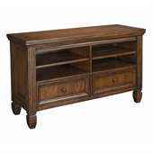 Hammary Hidden Treasures Entertainment Console in Oak Finish