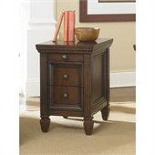Hammary Hidden Treasures Chairside Table in Cherry Finish