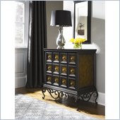 Hammary Hidden Treasures 3 Drawer Accent Chest in Black and Brown