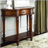 Hammary Hidden Treasures Console Table in Light Cherry Finish