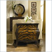 Hammary Hidden Treasures 3 Drawer Accent Chest with Zebra Pattern