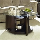 Hammary Apex Round Cocktail Table in Dark Cherry