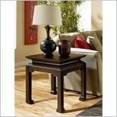 Hammary Chow Square End Table in Black