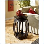 Hammary Chow Round End Table in Black