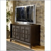 Hammary Chow Breakfront Entertainment Console in Black
