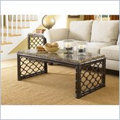 Hammary Boracay Rectangular Cocktail Table in Deep Brown