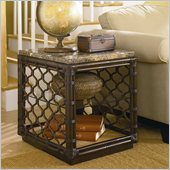 Hammary Boracay Rectangular End Table in Deep Brown