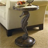 Hammary Boracay Seahorse Round Accent in Deep Brown