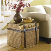 Hammary Boracay Small Square End Trunk in Deep Brown