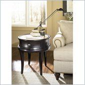 Hammary Capri Oval End Table in Bistre