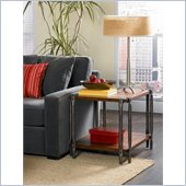 Hammary Sundance Rectangular End Table in Tawny Brown