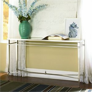 Hammary Mallory Sofa Table in Brushed Nickel