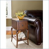Hammary New Haven Side Table in Warm Chestnut