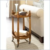 Hammary Wheaton Hall Round End Table in Golden Brown