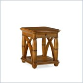 Hammary Grand Isle Rectangular End Table in Amber
