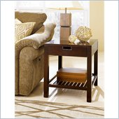 Hammary Montage Rectangular Drawer End Table in Espresso