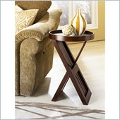 Hammary Montage Round End Table in Espresso