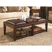 Hammary Sunset Valley Bench Cocktail in Rich Mahogany