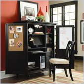 Hammary Camden Home Office Cabinet in Black