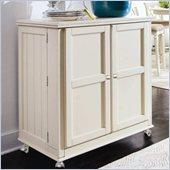 Hammary Camden Flip Top Bar in Painted White