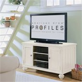 Hammary Camden 48 Entertainment Center Feet in Painted White
