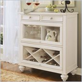 Hammary Camden Bookcase Bar in Painted White